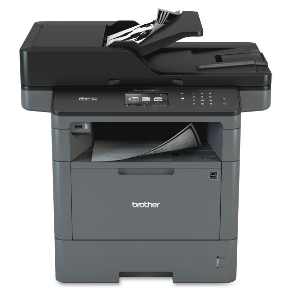 Brother MFC-L5900DW Wireless Monochrome All-in-One Laser Printer, Copy/Fax/Print/Scan