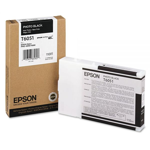 Epson T6051 Photo Black Ink Cartridge