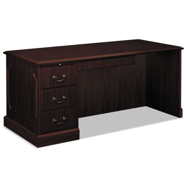 "HON 94000 Series Left Pedestal Desk | 1 Box / 1 File Drawer | 66""W"