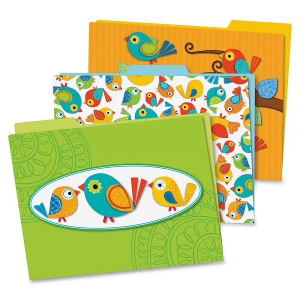 Carson-Dellosa Boho Birds File Folders Set