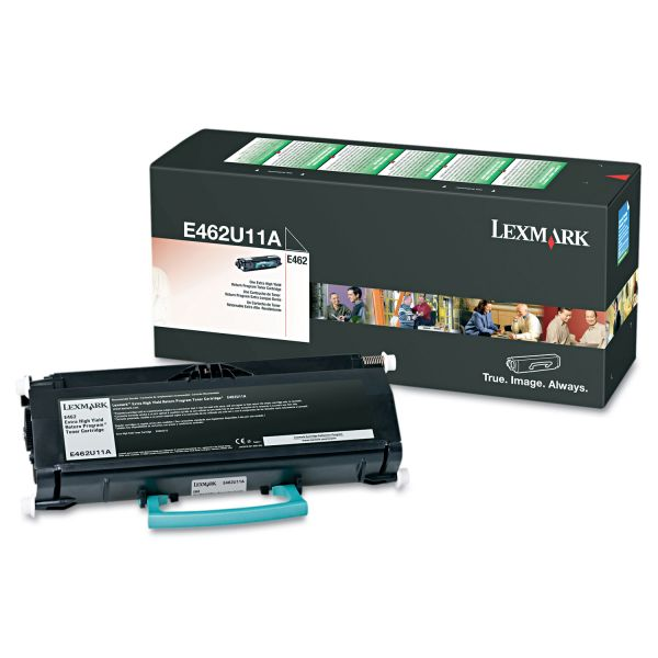 Lexmark E462U11A Black Extra High Yield Return Program Toner Cartridge