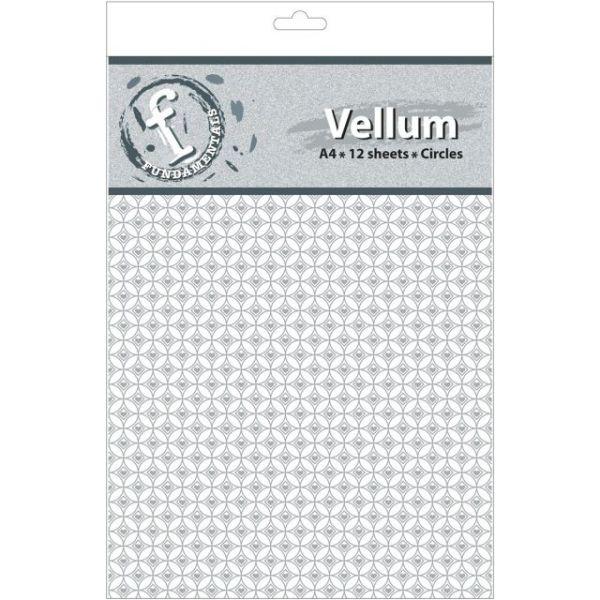 """Fundamentals A4 Vellum Sheets 11.7""""X8.3"""" 12/Pkg"""