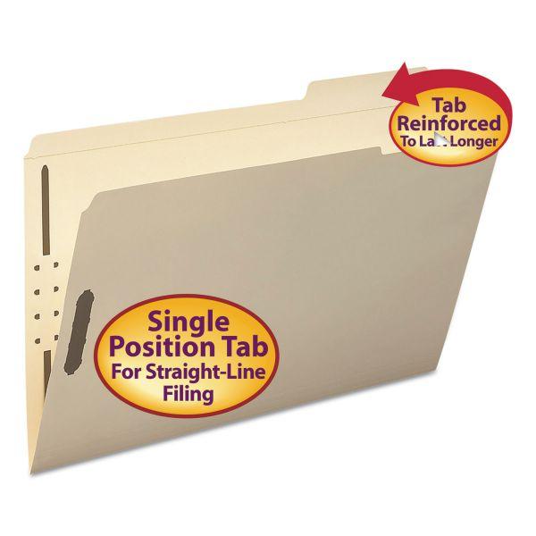 Smead Folder, Two Fasteners, 1/3 Cut Third Position, Top Tab, Legsl, Manila, 50/Box