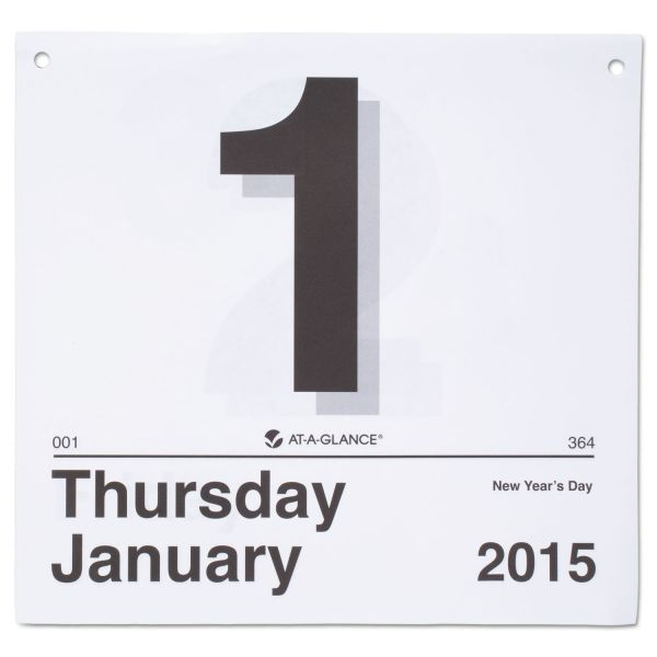 At-A-Glance Today Is Daily Wall Calendar Refill