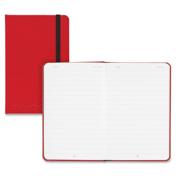 Black n' Red Casebound Hardcover Notebook, Legal Rule, Red Cover, 5 1/2 x 3 1/2, 71 Sheets/Pd