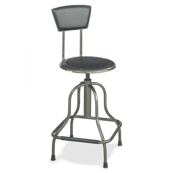 Safco Diesel High Base Industrial Stool With Back