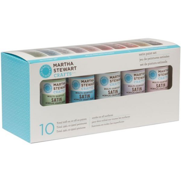 Martha Stewart Satin Acrylic Craft Paint Set