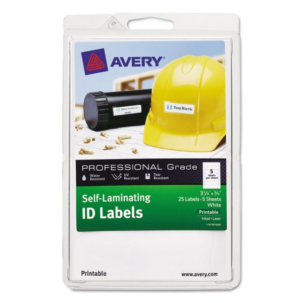 Avery Durable Self-Laminating ID Labels