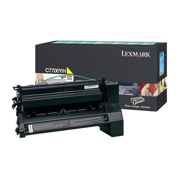 Lexmark C7700YH Yellow High Yield Return Program Toner Cartridge