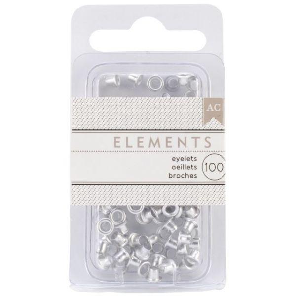 """Elements Eyelets .125"""" 100/Pkg"""