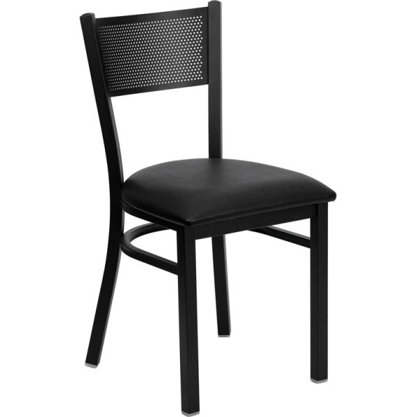 Flash Furniture Grid Back Metal Restaurant Chair