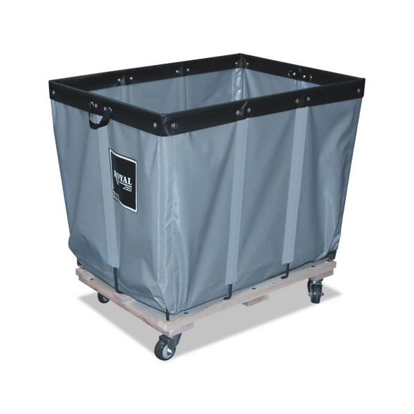Royal Basket Trucks 6 Bushel Permanent Liner Truck, 20 x 30 x 27, 600 lbs. Capacity, Gray