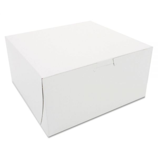 SCT Non-Window Bakery Boxes, 8 x 8 x 4, White, 250/Carton