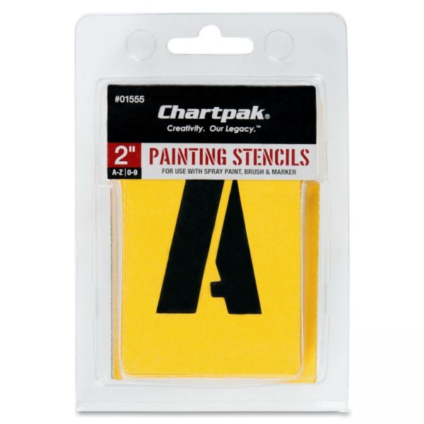 Chartpak Painting Letters/Numbers Stencils