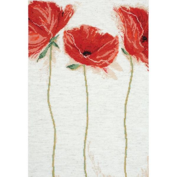 Flamenco Poppies Counted Cross Stitch Kit