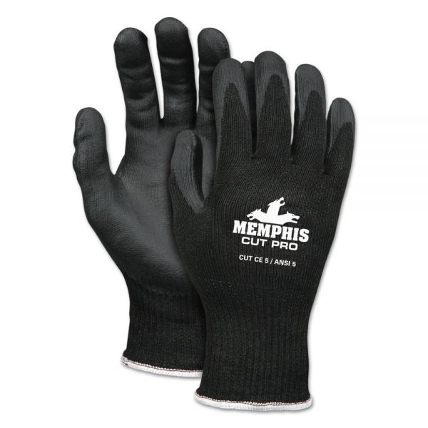 MCR Safety Cut Pro 92720NF Gloves, X-Large, Black, HPPE/Nitrile Foam
