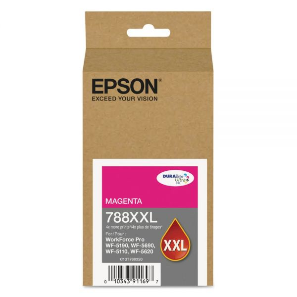 Epson 788 XXL High-Yield Magenta Ink Cartridge (T788XXL320)