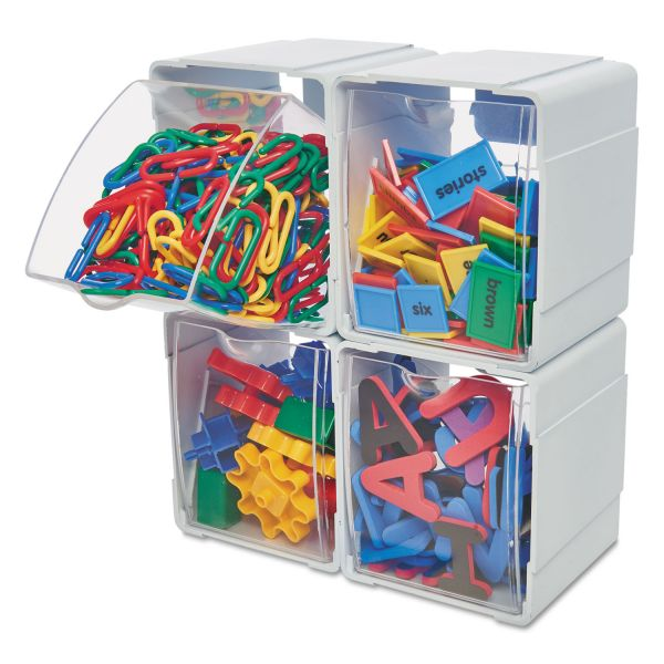 Deflecto Single Interlocking Tilt Bin Storage Organizer