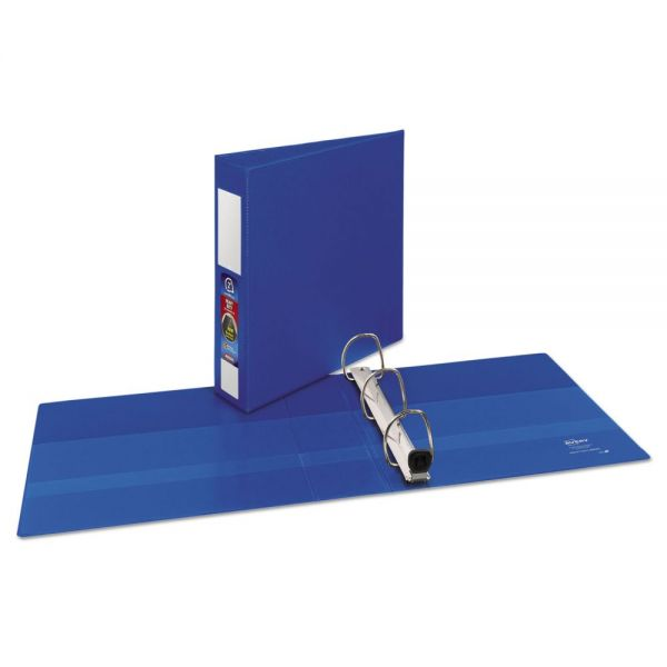 "Avery Heavy-Duty Binder with One Touch EZD Rings, 11 x 8 1/2, 2"" Capacity, Dark Blue"