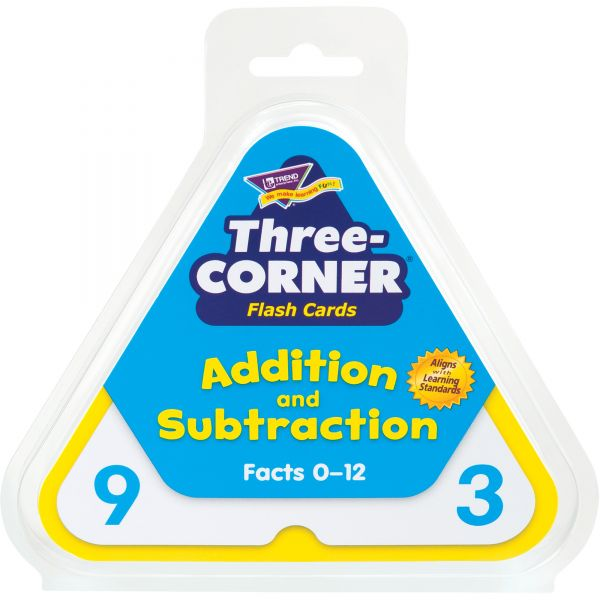 Trend Addition/Subtraction Three-Corner Flash Card Set