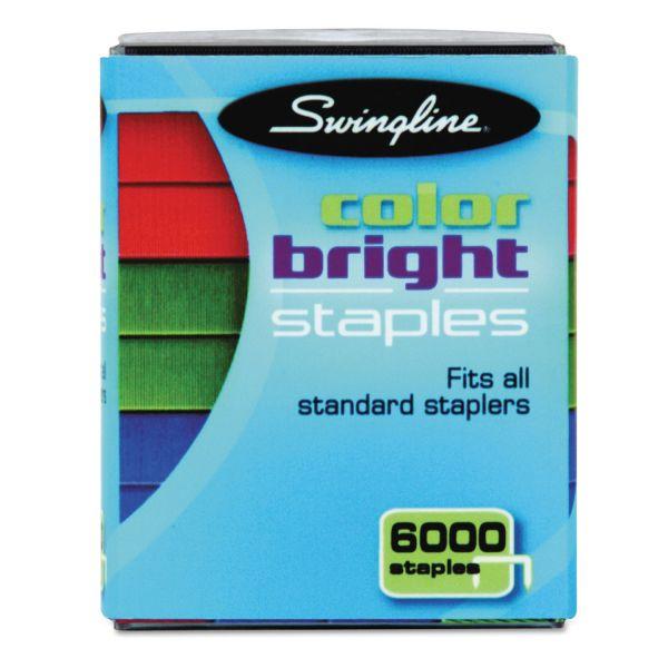 """Swingline 1/4"""" Color Bright Staples"""