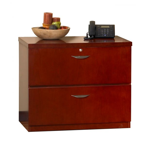 Mayline Mira Series Wood Veneer 2-Drawer Lateral File