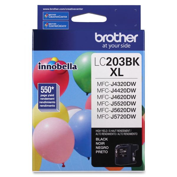 Brother LC203BK XL High-Yield Black Ink Cartridge