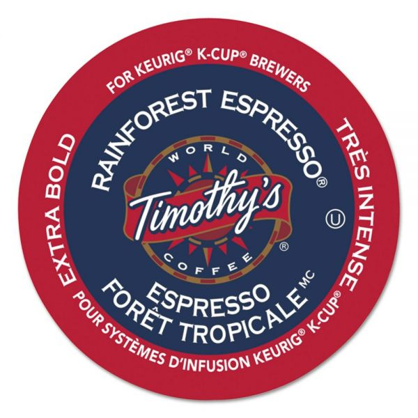 Timothy's World Coffee Rainforest Espresso Coffee K-Cups