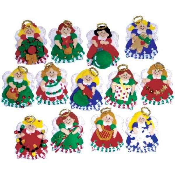Angel Ornaments Felt Applique Kit