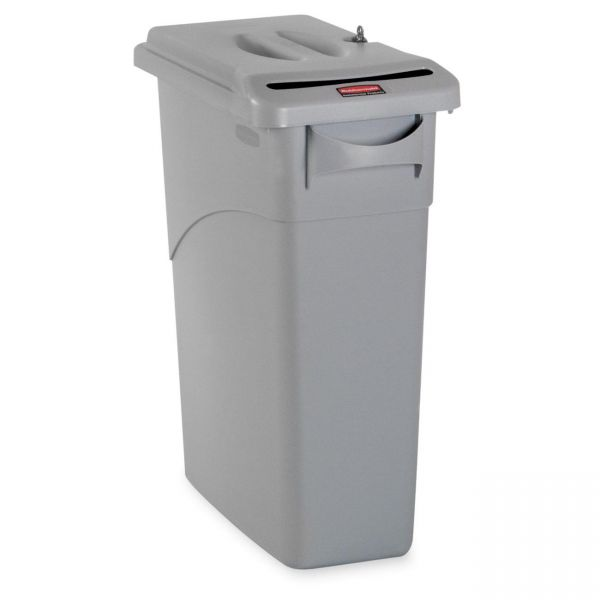 Rubbermaid Slim Jim 23 Gallon Trash Can with Locking Lid