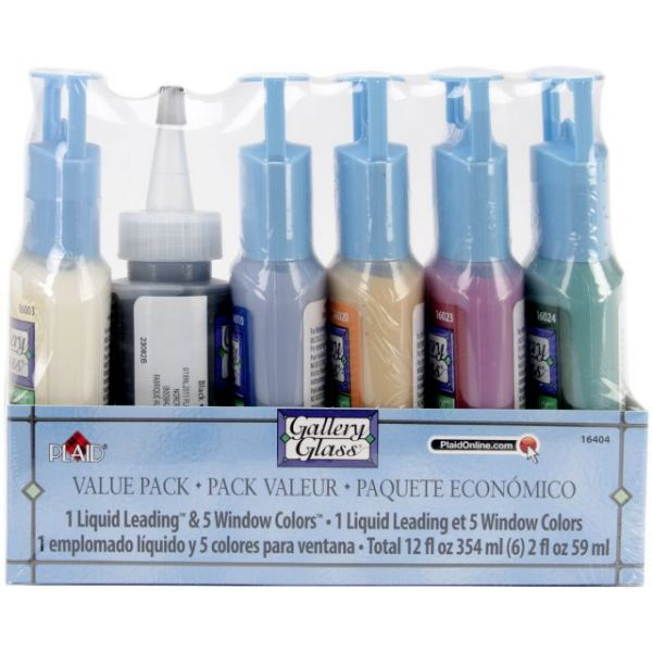 Gallery Glass Window Color Paint Set 6/Pkg