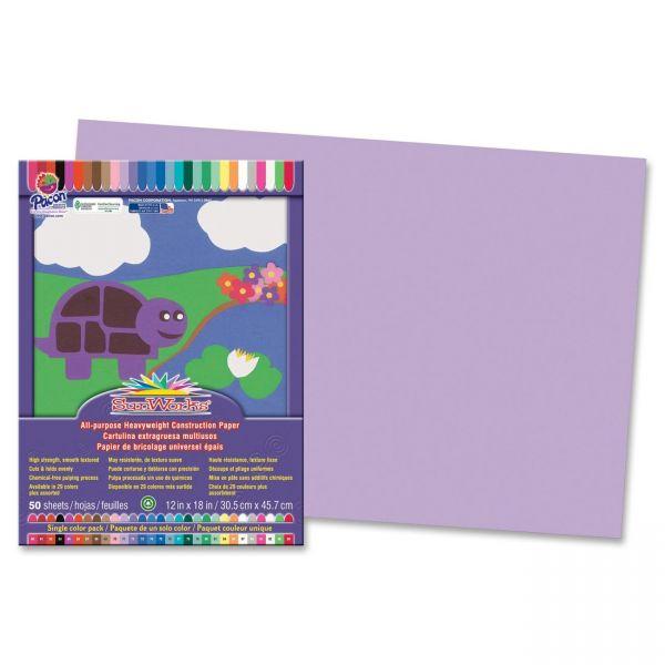 SunWorks Heavyweight Purple Construction Paper