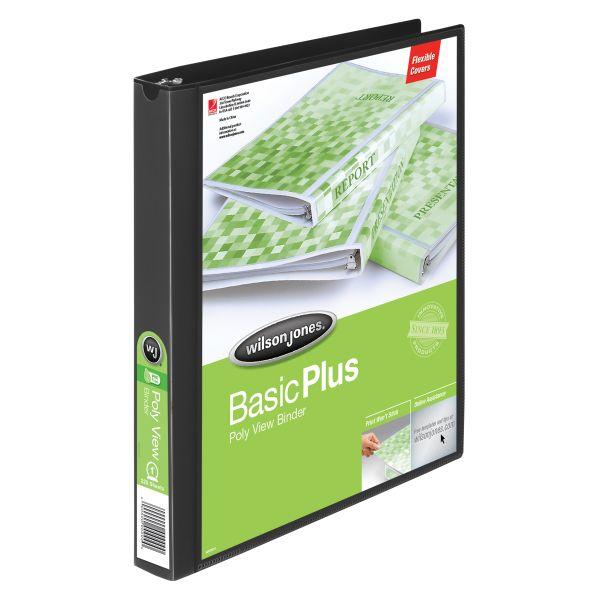 "Wilson Jones Flexible Basic Plus 1"" 3-Ring View Binder"