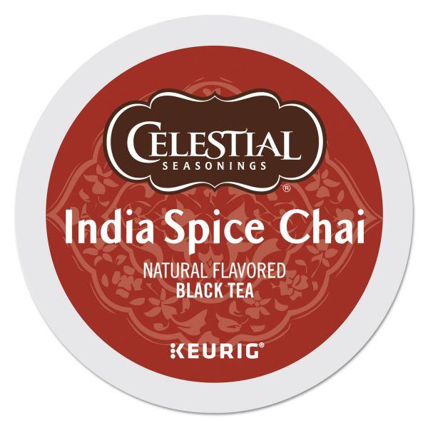 Celestial Seasonings India Spice Chai Tea K-Cups, 96/Carton