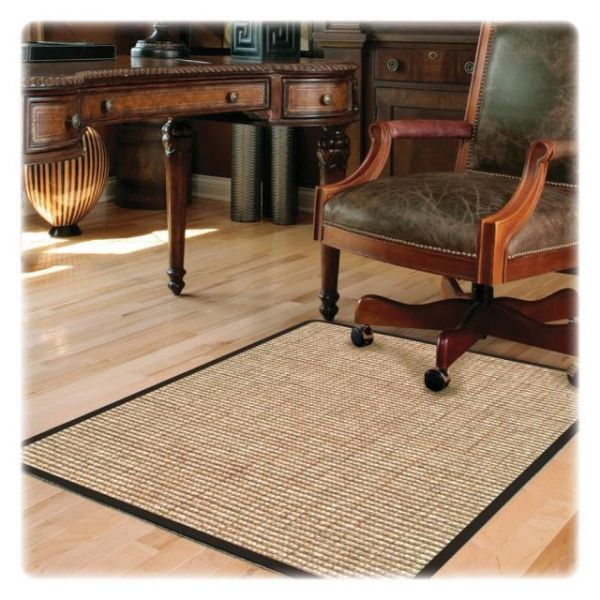 Deflect-o Harbour Pointe Chunky Wool Jute Decorative Chairmat for Hard Floors