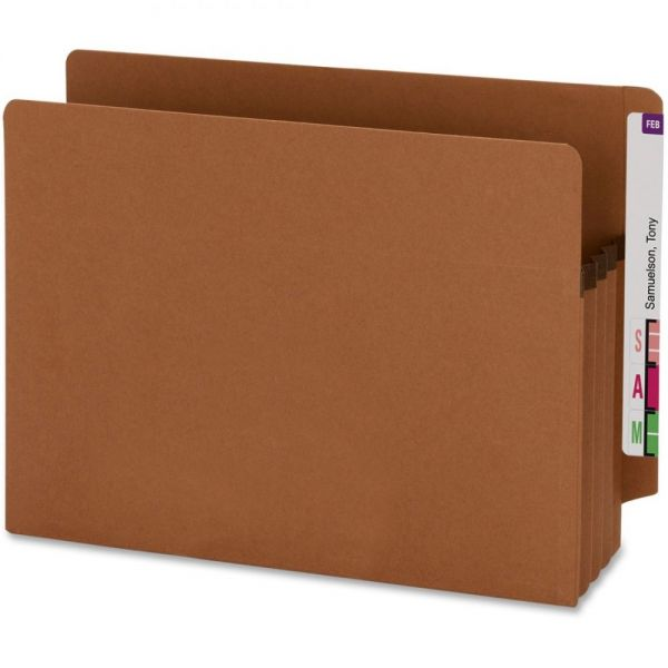 Smead 73610 100% Recycled End Tab Extra Wide File Pockets