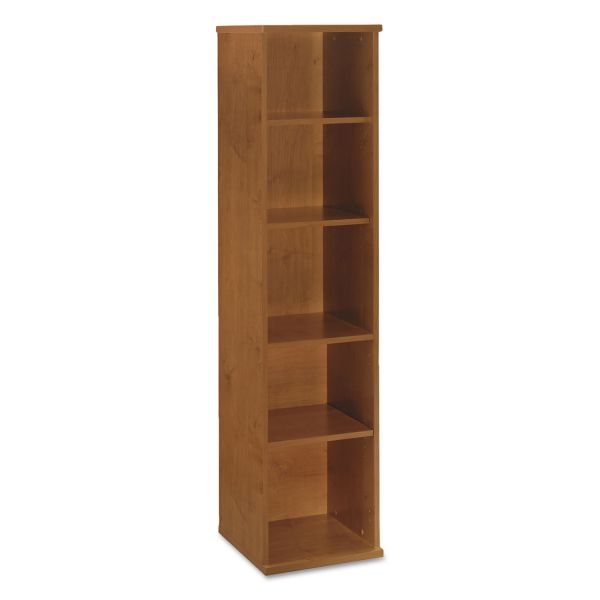 Bush Series C Collection 18W 5 Shelf Bookcase, Natural Cherry