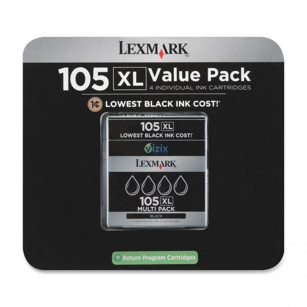 Lexmark #105XL Black High Yield Return Program Ink Cartridge (14N0843)