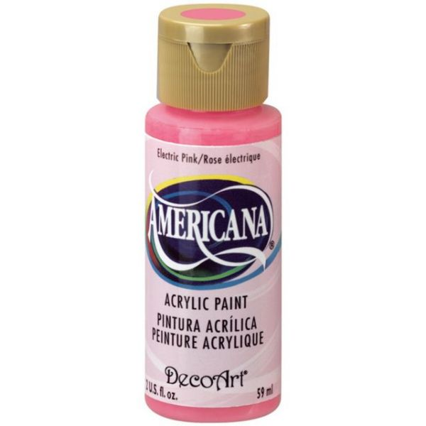 Deco Art Americana Electric Pink Acrylic Paint