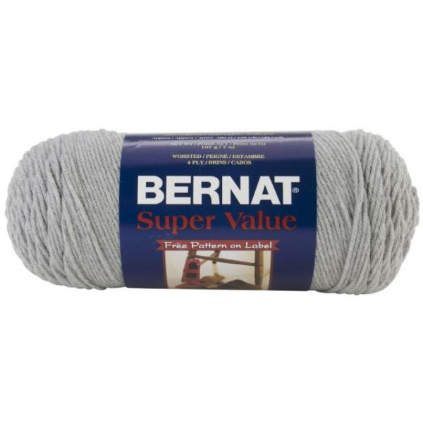 Bernat Super Value Yarn - Soft Gray