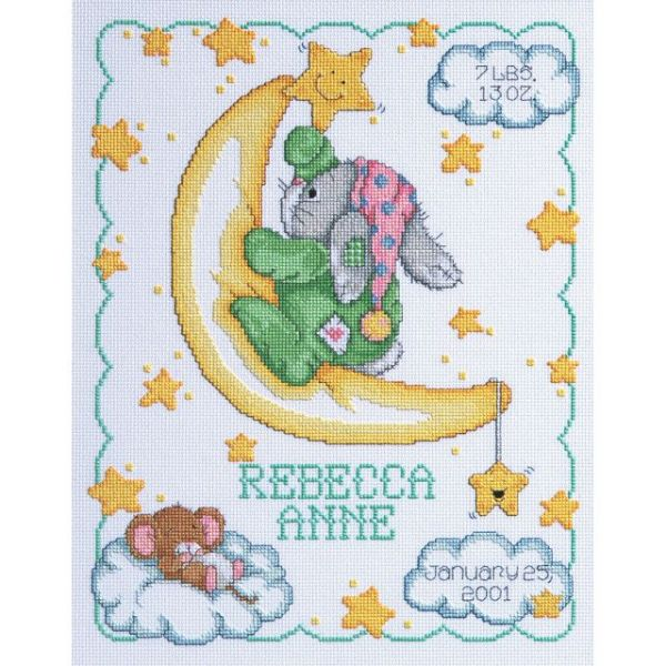 Janlynn Crescent Moon Sampler Counted Cross Stitch Kit
