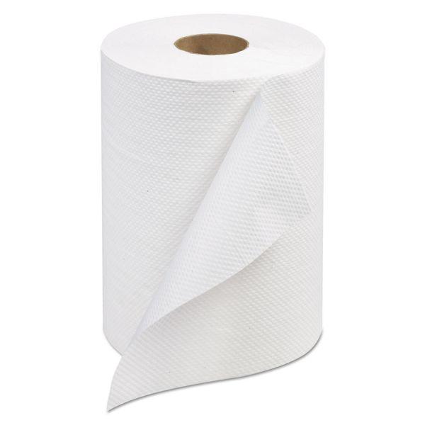 Tork Advanced Hardwound Roll Paper Towel, 7 4/5 x 350 ft, 1-Ply, White, 12 Rolls/Carton