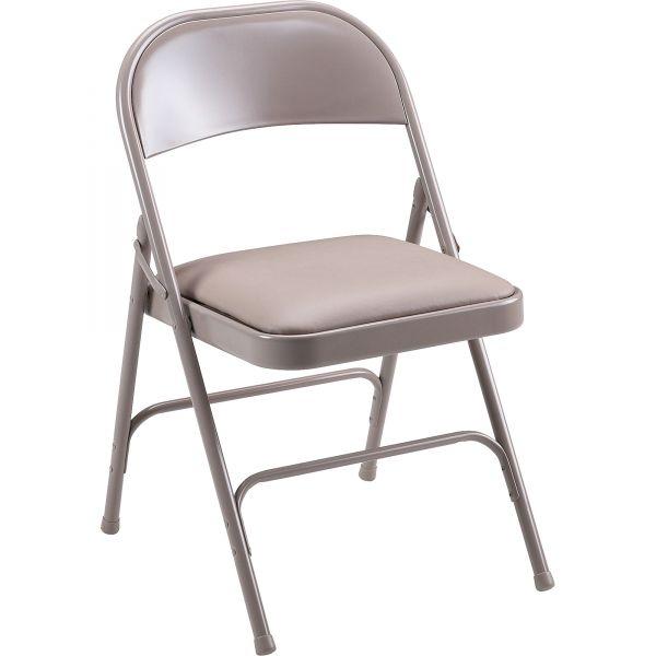 Lorell Steel Padded Folding Chairs