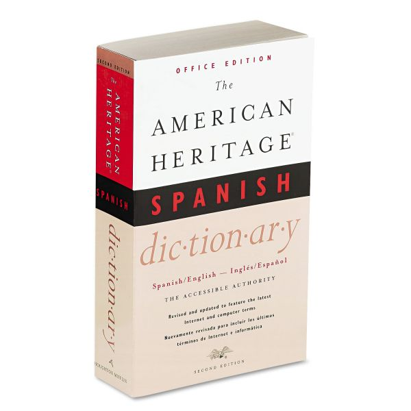 Houghton Mifflin American Heritage Office Spanish Dictionary, Paperback, 640 Pages
