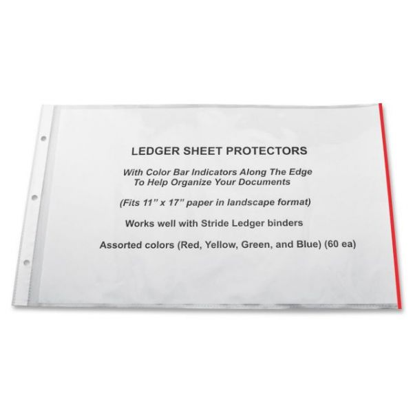 Stride Top Loading Color Coding Sheet Protectors