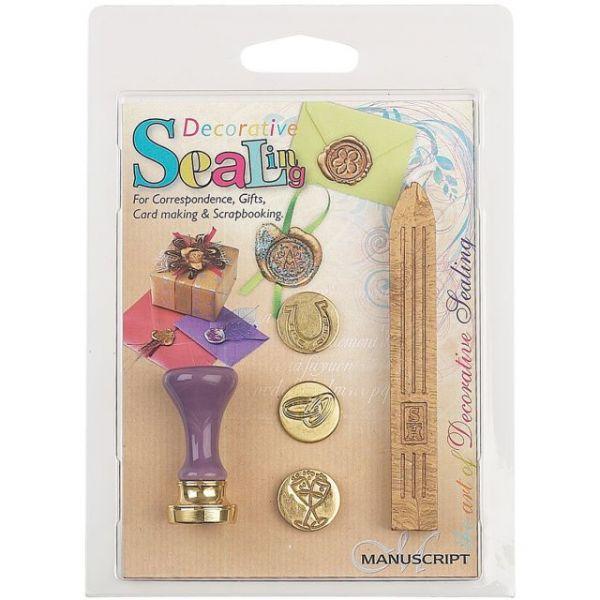 Decorative Sealing Set W/Gold Wax