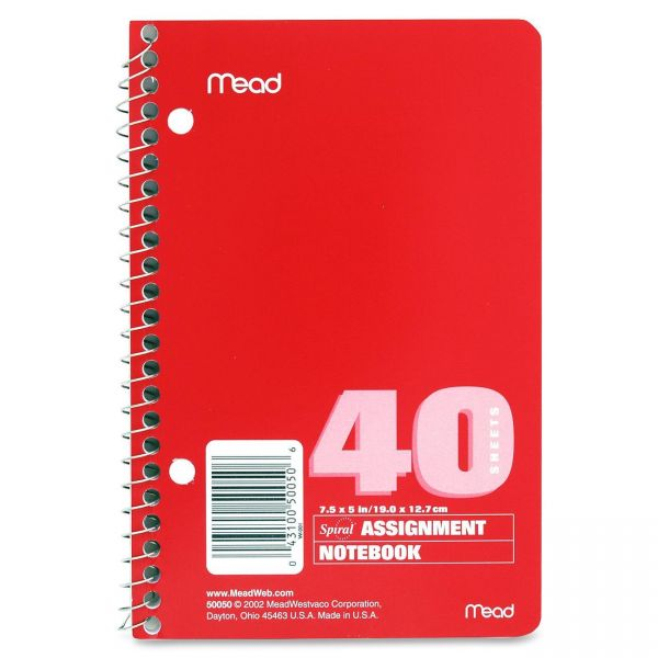 Mead Spiral Assignment Book