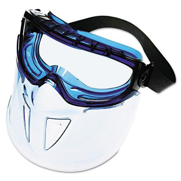 Jackson Safety* V90 Series Face Shield, Blue Frame, Clear Lens