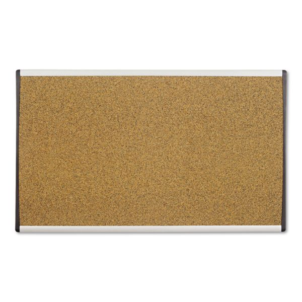 Quartet ARC Frame Cork Cubicle Board, 18 x 30, Tan, Aluminum Frame