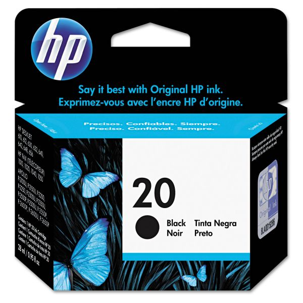 HP 20 Black Ink Cartridge (C6614DN)